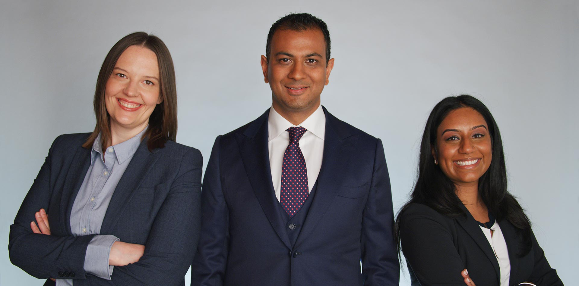 Stephanie, Dorian, and Meera of Persaud Employment Law